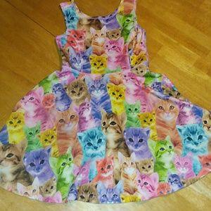Children's Place cat skater dress 5/6